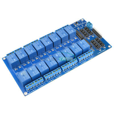 New 16-Channel 5V Relay Shield Module with optocoupler For Arduino