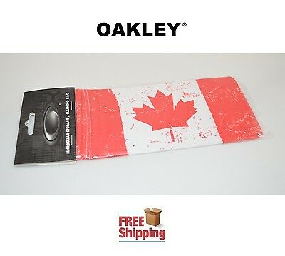 Oakley® Sunglasses Eyeglasses Microclear Cleaning Storage Bag Canada Flag New