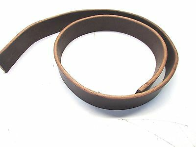 """Cox Leather 1 1/2"""" wide brown harness leather thick belt blanks leather craft"""