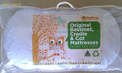 TETRA TEA-TREE BASSINET MATTRESS - 40cm X 81cm - COTTON