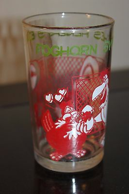 Welch's Jelly Glass 1974 Foghorn Switches Henry's Egg Porky Pig Looney Tunes