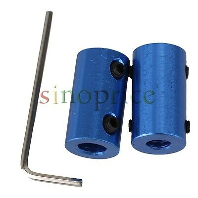 2pcs 6mm-7mm Aluminum Alloy Shaft Robot Rigid Copper Motor Coupling Coupler
