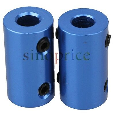 2pcs 5x6mm Motor Gear Aluminum Shaft Connector Solid Rigid Coupling Coupler