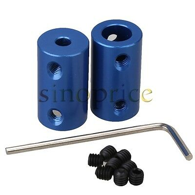 2pcs 4x8mm Aluminum Alloy Shaft Robot Rigid Copper Motor Coupling Coupler
