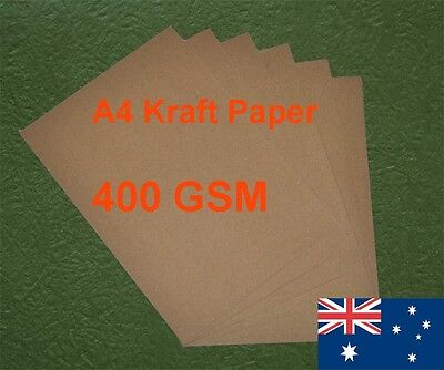 120 X A4 Kraft Paper Brown 400GSM All Wood Pulp Made