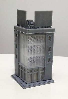 Outland Models Railway Layout Modern City Building 4 Story Office Z Scale