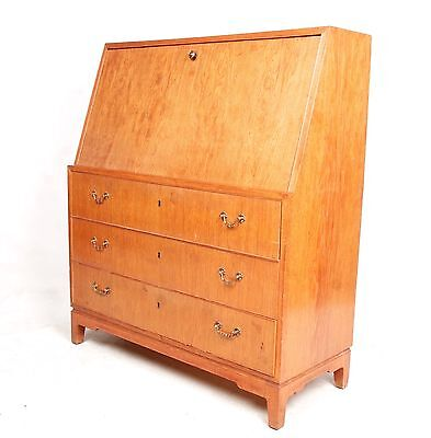 Antique Vintage Oak Bureau Writing Bureau Desk Golden Oak Writing Desk Chest Dan