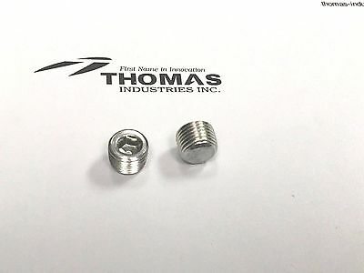 Thomas Industries Oil Less Recovery Compressor Body Plugs 1/8 NPT Part# 625114