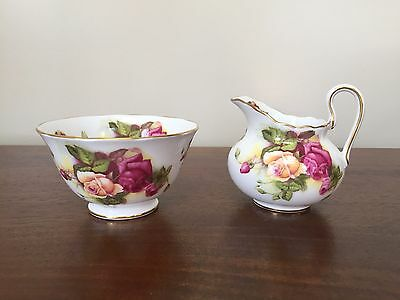 Golden Rose Royal Chelsea Mini Creamer & Open Sugar Bowl ~ England