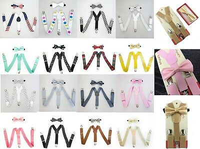 Suspender and Bow Tie Set for Baby Toddler Kids Boys Girls Children - USA Seller