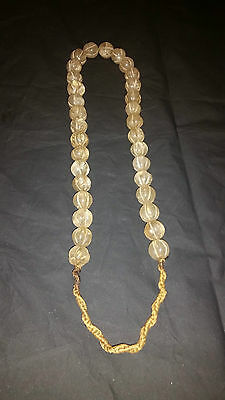 Very Beautiful Old Chinese Rock Crystal Necklace .