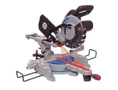 """King Canada Tools 8380 10"""" SLIDING COMPOUND MITER SAW W/ TWIN LASER Scie Onglets"""