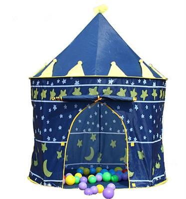 Lovely Kids Children's Game House Playhouse Play Tent  Christmas Gift Blue Color