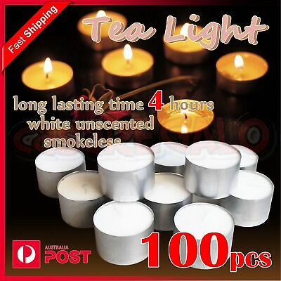 Tealight Candle Tea Light Candles Tealights Home Party Wedding 4 hours 100pcs
