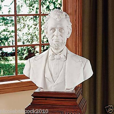 American President Abraham Lincoln Bonded Marble Bust Sculpture 16th president
