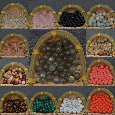 New Wholesale Natural Gemstone Round Loose Spacer Stone Beads 4MM 6MM 8MM 10MM
