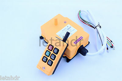 12-415V 1 Transmitter 6 Channels Industrial Wireless Crane Hoist Remote Control