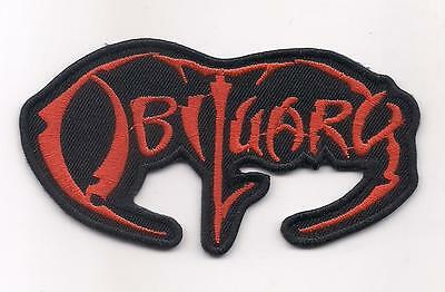 OBITUARY (American Death metal red logo patch) 10 x 8 Cm