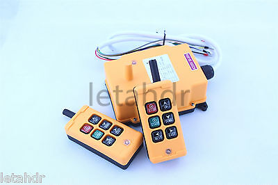 12-415V 2 Transmitters 6 Channels Industrial Wireless Crane Hoist Remote Control