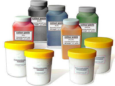 5x200g Colors Water Based Screen Printing Ink Color Paste