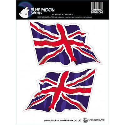 Blue Moon Graphix Stickers Motorcycle Helmets Ipad Pc Board British Flag Bmg0009