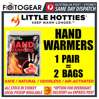 Little Hotties Hand Warmers 1 Pair Heat Pack 8 Hours Warmer Sport Hot Socks New