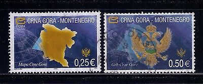 Montenegro Stapms ,2005 ,Map and Coats of Arms SC# 123;125 Used
