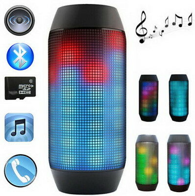Portable PULSE LED Light Stereo Wireless Bluetooth Speaker With FM For Party #DF