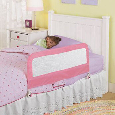 Infant Childrens Kids Toddlers Bed Rail Safety Guard (Pink)