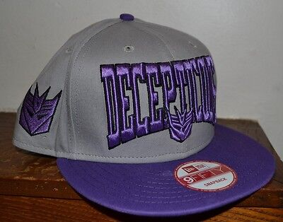 614a4146230 Transformers SNAPBACK FlatBill Hat Decepticons EMBROIDERED NEW ERA 9Fifty