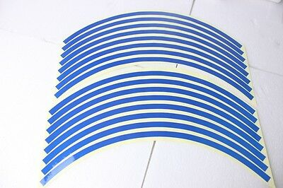 Motorcycle Reflective Rim Tape suits 17 inch rims - Blue