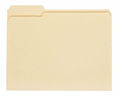 Universal 1/3 Assorted Cut File Folders Top Tab Letter Manila - 100 ct.