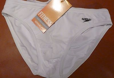 New  Mens Swimwear Speedo Solar Fitness  White New With Tags
