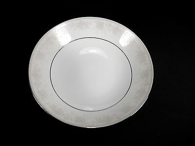 "Elegant Noritake Misty 8"" Round Vegetable Bowl White Grey Floral Platinum-Excond"