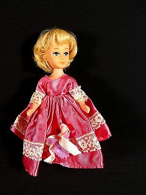 "Vintage 1950's Blonde Bubble Hair Doll Rubber Stand Out Lashes-6"" Size-Hong Kong"