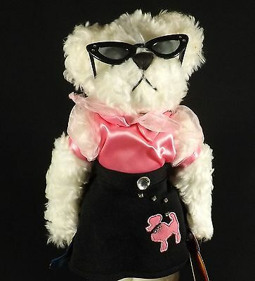 """Adorable Brass Button 1950's 11"""" Lucy Bear Poodle Skirt Catseye Glasses"""