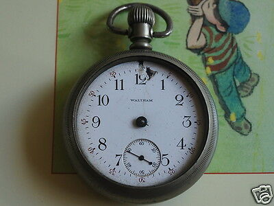 Nice Vintage WALTHAM 18S Pocket Watch -- For Parts or Repair