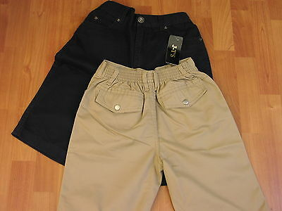 """Wider Fitting Boys Chino Shorts - From Age 10 Upto 38"""" Waist"""