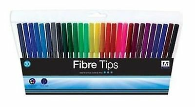 30x COLOUR THERAPY FINE TIP FELT PENS  COLOURING DRAWING PENS ART & CRAFT fiber