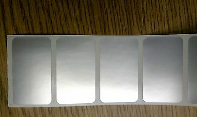 """1.75""""x1"""" Silver Thermal Transfer Mylar Labels,3000/roll,3"""" core-ribbon required"""