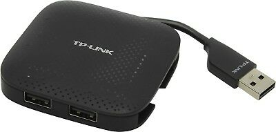 TP-LINK UH400 4 Ports USB Hub 3.0 adapter splitter black portable small slim