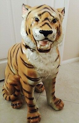 "Chinese Porcelain Fengshui Tiger Statue 29"" x 22"""