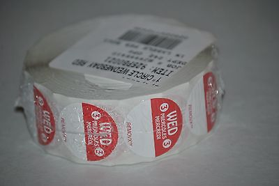 "Trilingual Food Rotation Labels, 1"" Circle Wednesday Red, 1000 Per Roll"