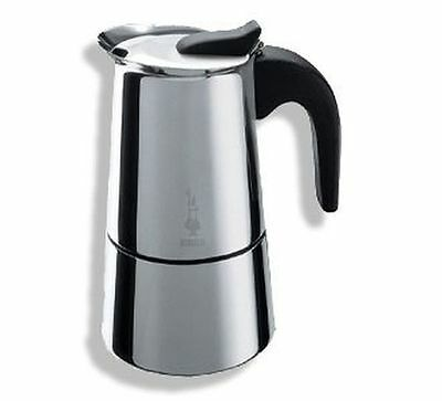New Bialetti Musa Stove Top 6 Cup Coffee Maker Stainless Steel