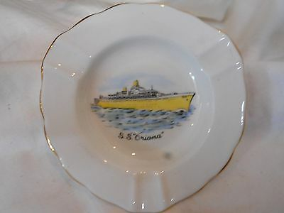 Vintage Sailsburry China S.s.oriana Ships Ashtrayabout