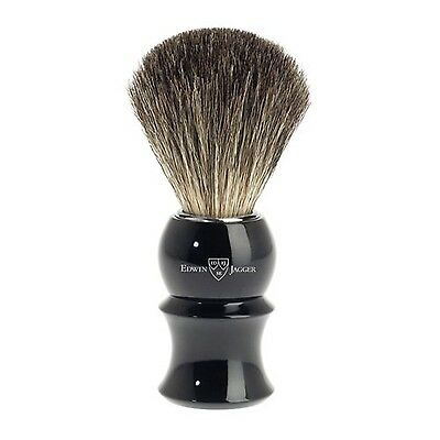 Edwin Jagger 89p16 Pure Badger Hair Shaving Brush Black Medium Edwin Jagger