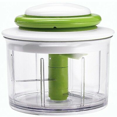 Chef'n VeggiChop Hand-Powered Food Chopper Arugula Color Green Chef'n