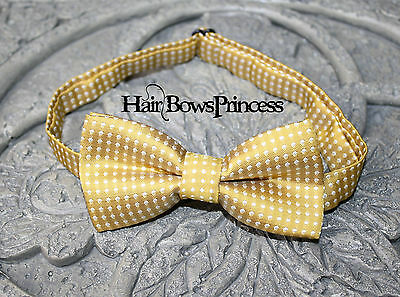 Boys infant toddler child bow tie kids gold photo prop wedding boy baby