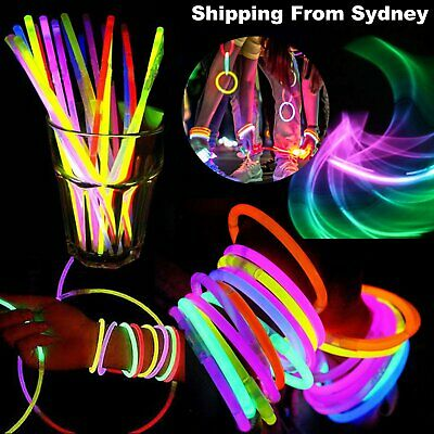 New 50-2000 Mixed Colour Glow Sticks Bracelets Party Glowsticks Glow in the dark
