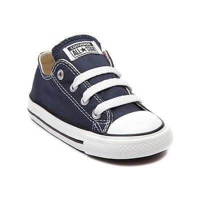 Converse All Star Low Chucks Infant Toddler Navy Canvas Shoe 7J237 FreeShipping